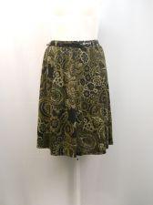 Buy Grace Elements Paisley Elastic Waist Knee Length A-Line Panel Belt Skirt Size L