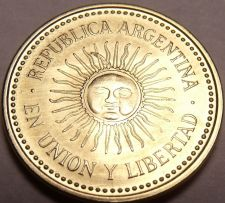 Buy Gem Unc Argentina 2010 5 Centavos~Beautiful Sun-Face Design~Free Shipping