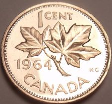 Buy Canada Proof 1964 Cent~Roal Canadian Mint~Super Price~Free Shipping