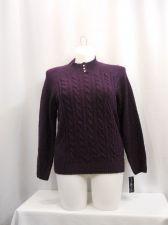 Buy Womens Sweater Size Petities XL Karen Scott Purple Long Sleeve Mock Turtle Neck