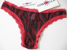 Buy X385 Cosabella NEW CELIP05M Celine Zebra Print Mesh Lace Low Rise Minikini Italy