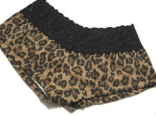 Buy X0251 Enticing NEW Brown Animal Prints Lace Waistband Stretch Cotton Hipsters PR