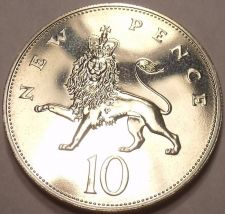 Buy Extremely Rare Great Britain 1991 10 New Pence~10,000 Minted~Lion Coin~Free Ship