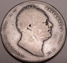 Buy Huge Rare Silver Great Britain 1836 Half Crown~Very Scarce Coin~Free Shipping