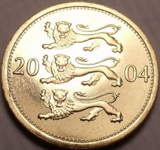 Buy Gem Unc Estonia 2004 50 Senti~3 Leopards Stacked On Each Other~Free Shipping