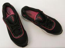 Buy SIZE 9 Womens Rock n Tone Tennis Shoes LA GEAR Black Leather Upper Triple Toning