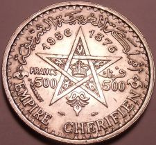 Buy Massive Silver Morocco AH1356 (1956) 500 Francs~Minted In Paris~Free Shipping