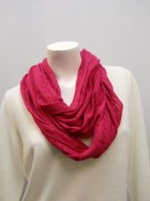 Buy Women's Cowl Infinity Scarf Solid Magenta Pink All Occasion Size 70X13.5 Acrylic