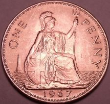 Buy Huge Gem Unc Great Britain 1967 Penny~Excellent Coin~Free Shipping
