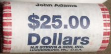 Buy 2007-P GEM UNC BANK ROLL OF JOHN ADAMS PRESIDENTIAL DOLLARS~FREE SHIPING~