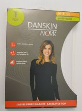 Buy Danskin Now White Performance Baselayer Tagless Brushed Crew Neck Top M 8-10