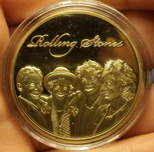 Buy Huge 42mm Gold Plated Rolling Stones Proof Medallion~Excellent~Free Shipping