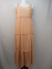 Buy NY Collection Geometric Sleeveless Scoop Neck Empire Waist Tired Dress Size 1X