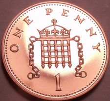 Buy Super Cameo Proof Great Britain 2001 Penny~Badge Of Henry II~Awesome~Free Ship