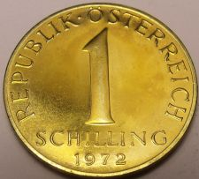 Buy Proof Austria 1972 Schilling~80,000 Minted~Edelweiss Flower~Free Shipping