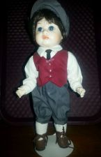 Buy VINTAGE Porcelain doll w/ dark brown hair & bloomers. I Believe is A. Lacombe/ b