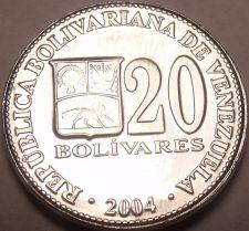 Buy Gem Unc Venezuela 2004 20 Bolivares~Simon Bolivar~Minted In Maracay~Free Ship