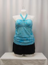 Buy 2 Piece Colorful Geometric Print Ruched Sides Tankini/Skirtini Plus Size 1X-3X