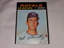 Buy VINTAGE 1971 TOPPS TED ABERNATHY ROYALS BASEBALL #187 GD-VG