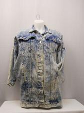 Buy SBII Women's Denim Jacket Size L True Vintage Three-Quarter Sleeves Collar Neck