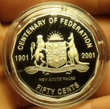 Buy Cameo Proof Australia 2001 50 Cents~Centenary Of Federation~New South Wales~Fr/S