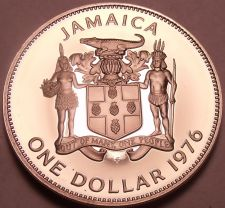 Buy Rare Proof Jamaica 1976 Dollar~24,000 Minted~Prime Minister~Free Shiping