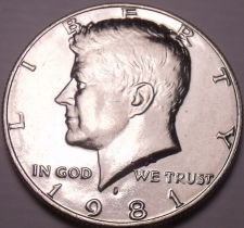 Buy United States Unc 1981-P Kennedy Half Dollar~Free Shipping