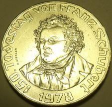 Buy Huge Gem Unc Silver Austria 1978 50 Schilling~Death Of Franz Schubert Free Ship