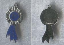 Buy Vintage Charm Enamel on Sterling 925 Silver FLAT 1st Place Blue Ribbon