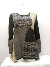 Buy PLUS SIZE 1X Women's Tunic Sweater STYLE&CO. Rye Combo Long Sleeves Asymmetrical