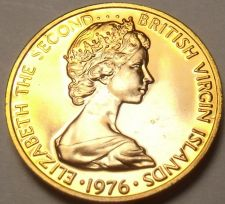 Buy Rare Unc British Virgin Islands 1976-U Cent~Hummingbird~Only 996 Minted~Free Shi