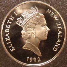Buy Rare Cameo Proof New Zealand 1992 50 Cents~Only 9,000 Minted~HMS Endeavour~Fr/S