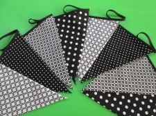 Buy Black & White Gotcha Puzzle Fabric Bunting Double Sided Banner 8 Flags 2 m.7 ft