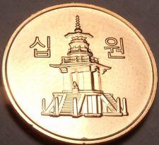 Buy Gem Brilliant Unc South Korea 2011 10 Won~Pagoda at Pul Guk Temple~Free Shipping
