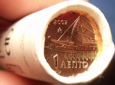 Buy Gem Unc Original Roll (50) Greece 2007 1 Euro Cents~Ancient Athenian Trireme~F/S