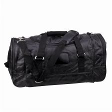 "Buy 21"" Leather Duffle Bag Black"