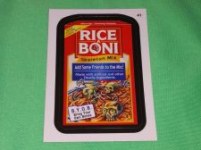 Buy RARE 2015 Willy Wonka Wacky Package RICE A BONI Collectors Sticker Card Mint