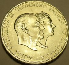 Buy Rare Gem Bu Silver Denmark 1960H-CS 5 Kroner~Silver Wedding Anniversary~Free Shi