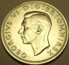 Buy Gem Unc Silver Great Britain 1942 Half Crown~Excellent~Free Shipping