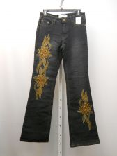 Buy Milano Moda Boot Cut Legs Dark Wash Embellished 30X32 Women's Jeans Size 5-6