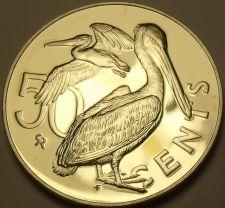 Buy Rare Unc British Virgin Islands 1976-U 50 Cents~Pelican~Only 996 Minted~Free Sh