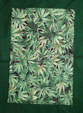 Buy Set of four (4) handmade cloth placemats Cannabis Herb Marijuana 100% Cotton