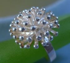 Buy sz 6.5 RING: sterling 925 silver MODERNIST DAHLIA FLOWER FIREWORKS