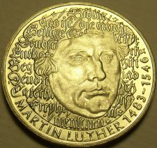 Buy Proof Germany 1983-G 5 Mark~500th Anniversary Of Martin Luther~350k Minted~Fr/S