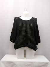 Buy Plus Size 2X Style & Co Sweater Black Short Raglan Sleeves Scoop Neck Pullover
