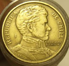 Buy ROLL (40 COINS) CHILE ONE PESO COINS~ALL 1970'S~GENERAL O'HIGGINS~FREE SHIPPING~