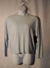 Buy Debbie Morgan Blue Moon Long Sleeve Crew Neck Thin Knit Zipper Sweater Size XL