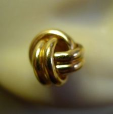 Buy Post Earrings : Gold Heavy Vermeil On Sterling Love Knots - Signed