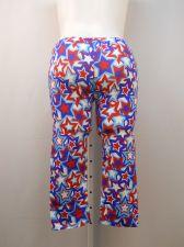 Buy SIZE XL Womens Capri Leggings NO BOUNDARIES Multi Colored Star Print Inseam 21