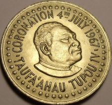 Buy Rare Gem Unc Tonga 1967 Pa'Anga~Coronation Of Tapou IV~13,000 Minted~Free Ship